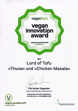 Lord of Tofu - Vegan Innovation Award