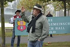 Bauernprotest vor der Bayer-Konzernzentrale