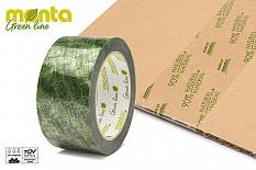 Sichtbar grün verpackt mit kompostierbarem Klebeband