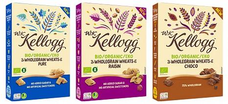 Knusprige Bio-Getreidekissen von Kellogg