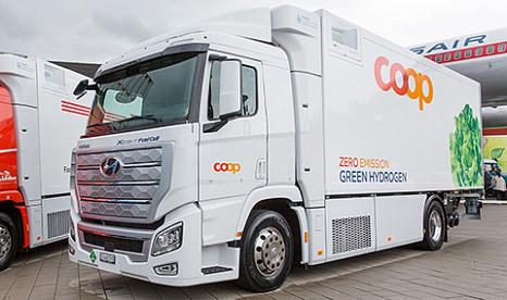 Wasserstoff-Lastwagen kommt auf die Straßen