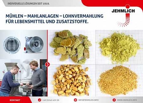 JEHMLICH-Zerkleinerungstechnik für Lebensmittel