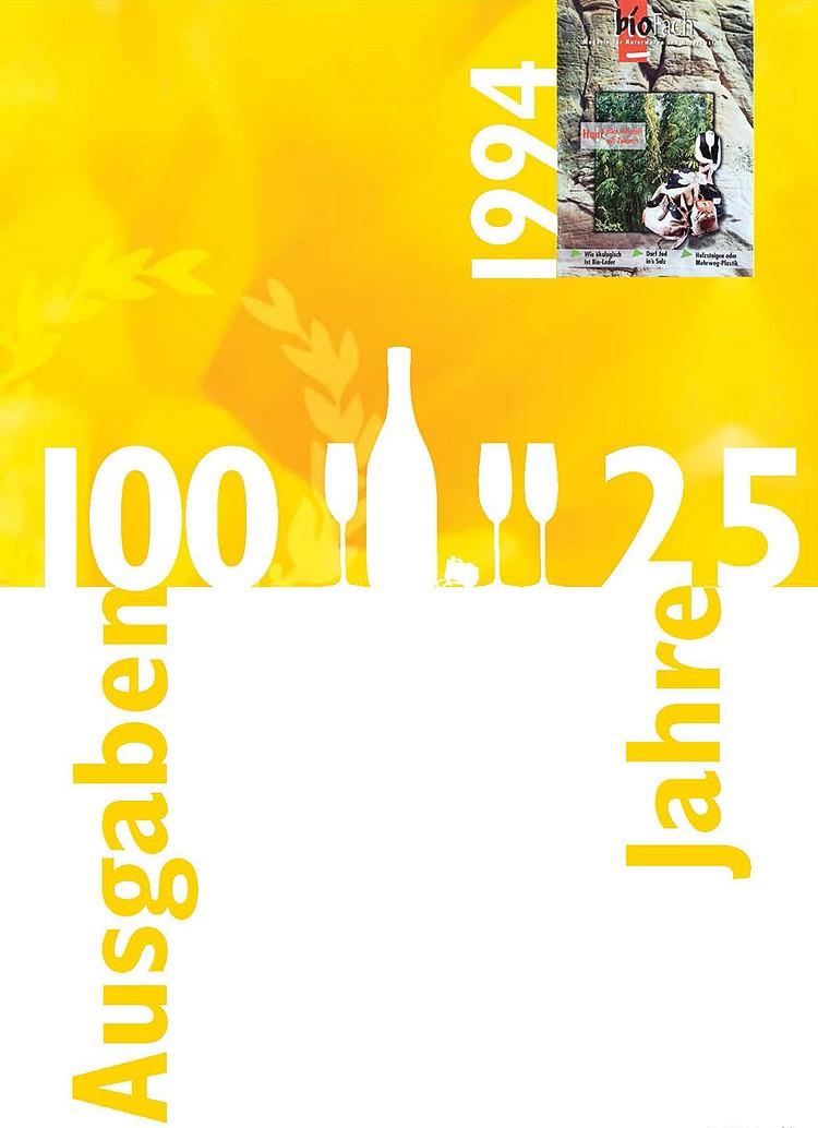 Jubiläum: 100 Ausgaben - 25 Jahre bioPress