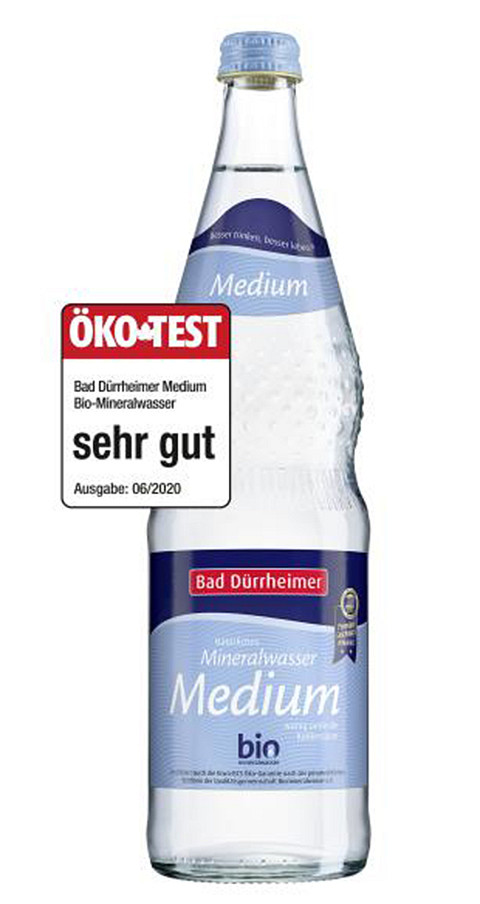 Bad Dürrheimer Bio-Mineralwasser Medium mit Note sehr gut