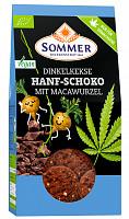 Sommer: Dinkel-Schoko-Kekse mitden Superfoods Hanf und Maca