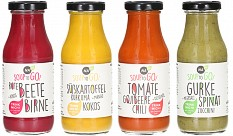 Naba Feinkost: Vier Flaschen farbenfrohe Vielfalt