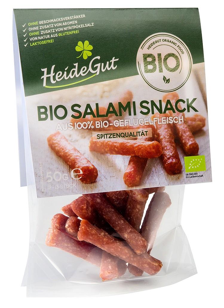 Ein passendes Duo: Bio-Salami und -Schinken