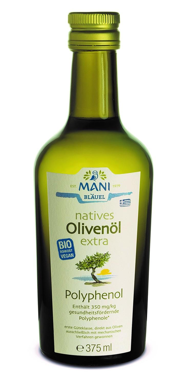 Neues Olivenöl extra Polyphenol von Mani