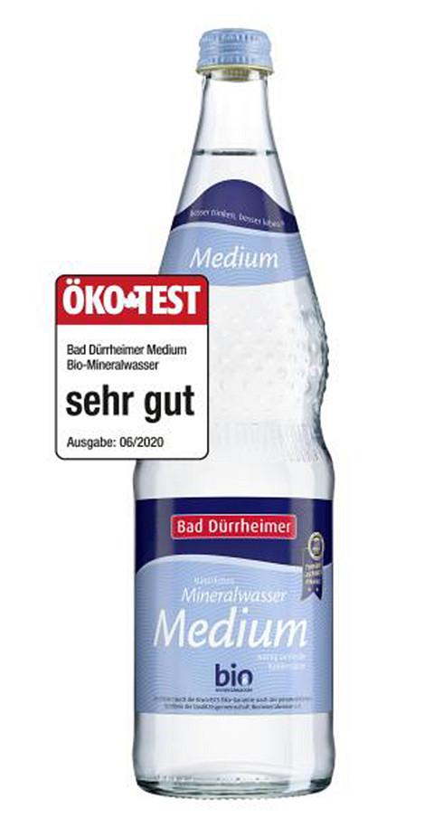 Bad Dürrheimer Bio-Mineralwasser Medium mit Note sehr gut